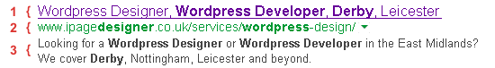 Search Engine Meta Title & Description Example